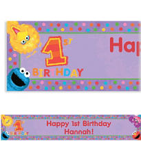Sesame 1st Birthday Custom Banner 6ft