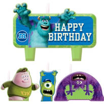 Monsters University Birthday Candles 4ct
