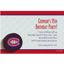 Montreal Canadiens Custom Invitation