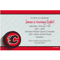 Calgary Flames Custom Invitation