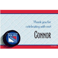 New York Rangers Custom Thank You Note