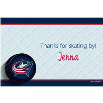 Columbus Blue Jackets Custom Thank You Note
