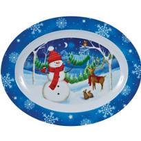 Oval Snowman Platter