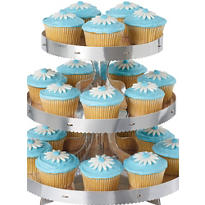 Silver Cupcake Stand