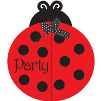 Fancy Ladybug Invitations 8ct