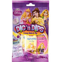 Disney Princess Candy Sticks & Dips 8ct