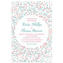 Custom Bunches of Hearts Pink Wedding Invitations