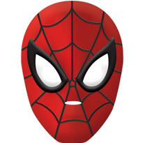 Child Plastic Spider-Man Mask Deluxe