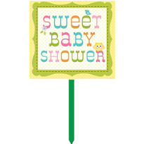 Happi Tree Baby Shower Yard Sign