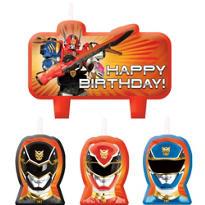 Power Rangers Birthday Candles 4ct
