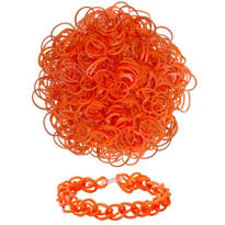 Orange Rubber Loom Bands 300ct