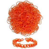 Orange Rubber Loom Bands 300ct