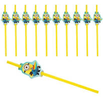 Despicable Me Straws 24ct