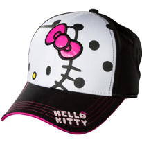 Polka Dot Hello Kitty Baseball Hat
