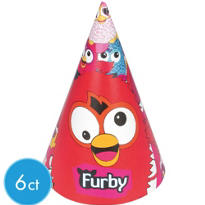 Furby Party Hats 6ct