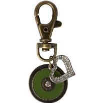 Vintage Rhinestone Heart Key Chain