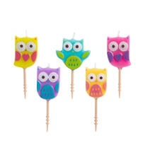 Owl Toothpick Candles 5ct