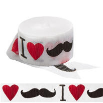 I Heart Moustache Streamer