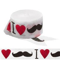 I Heart Moustache Streamer