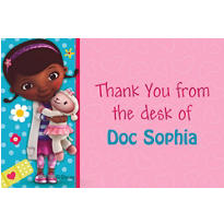 Doc McStuffins Custom Thank You Note