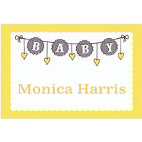 Baby Clothesline Neutral Custom Thank You Note