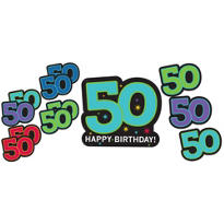 The Party Continues 50th Birthday Cutouts 12ct