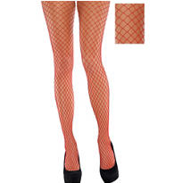 Adult Red Wide Fishnet Pantyhose