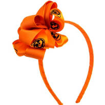 Child Pumpkin Ribbon Headband