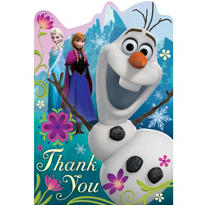 Frozen Thank You Notes 8ct