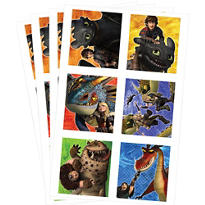 How to Train Your Dragon Stickers 4 Sheets