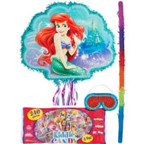 Pull String Little Mermaid Ariel Pinata Kit