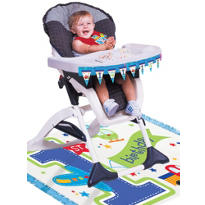 All Aboard 1st Birthday High Chair Decorating Kit 2pc