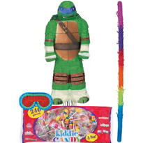 Pull String Leonardo Teenage Mutant Ninja Turtles Pinata Kit