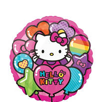 Rainbow Hello Kitty Balloon