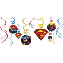 Superman Swirl Decorations 12ct