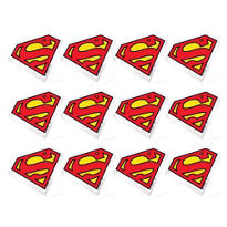 Superman Erasers 12ct