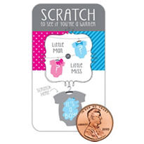 Little Man Gender Reveal Scratch-Off Party Game