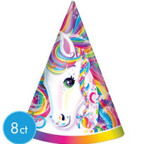 Lisa Frank Rainbow Horse Party Hats 8ct