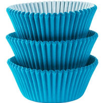 Caribbean Blue Baking Cups 75ct