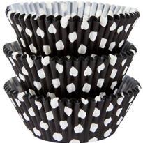 Black Polka Dot Baking Cups 75ct