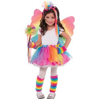 Girls Rainbow Fairy Costume