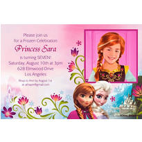 Frozen Custom Photo Invitation