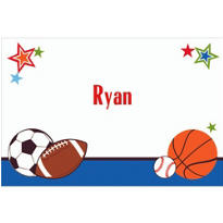 Play Ball Party Custom Thank You Note