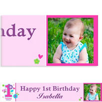 Sweet Birthday Girl Custom Photo Banner
