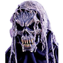 Fanged Hooded Skull Mask