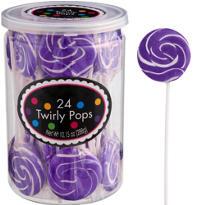 Swirly Purple Lollipops 24pc