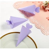 Lilac Cone Favor Boxes