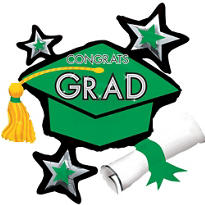 Green Star Graduation Cap Graduation Balloon