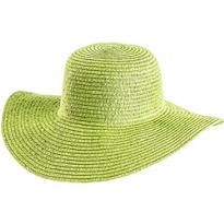 Kiwi Green Floppy Straw Hat