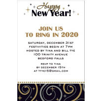 Sparkling New Year Custom Invitation